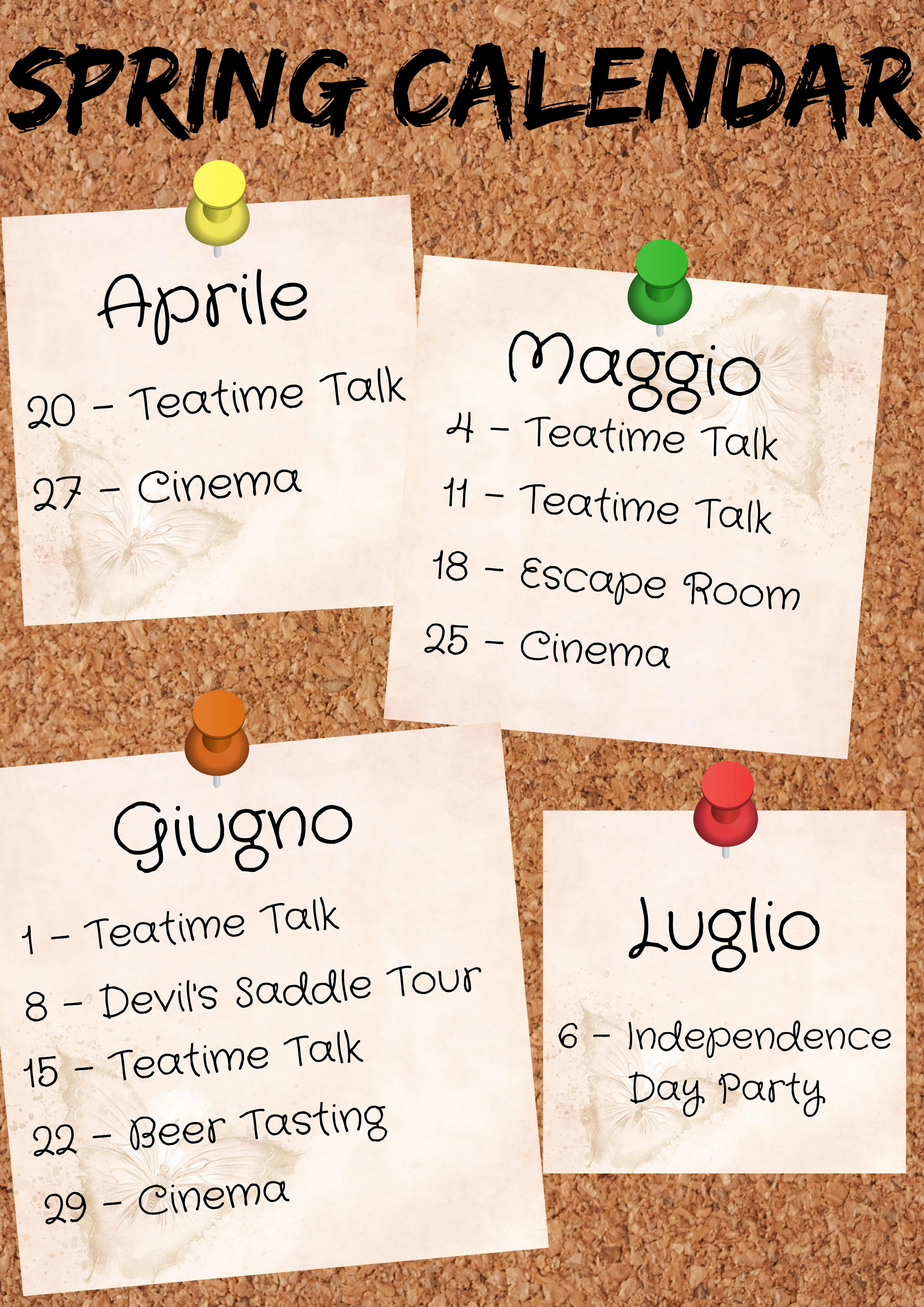 Calendario Traduzione Inglese.One World Scuola Di Lingue A Cagliari Corsi Di Inglese